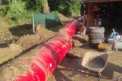 Naši dobrovoľní hasiči pomáhali stavať protipovodňovú stenu v obci Gerlachov, časť Mlyniská