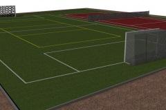 Príprava realizácie multifunkčného ihriska na tenis, volejbal a futbal.
